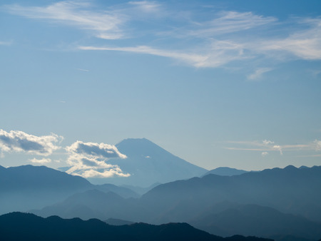 mountaintop: Mount Fuji to see from the Mount Takao mountaintop