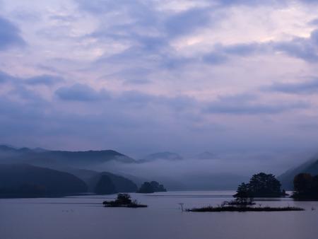 fukushima: Lake Akimoto before the daybreak at Fukushima, Japan