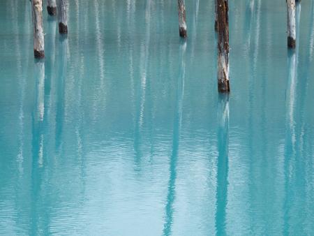北海道、Japan_Aoi 池の美しい青い池 写真素材