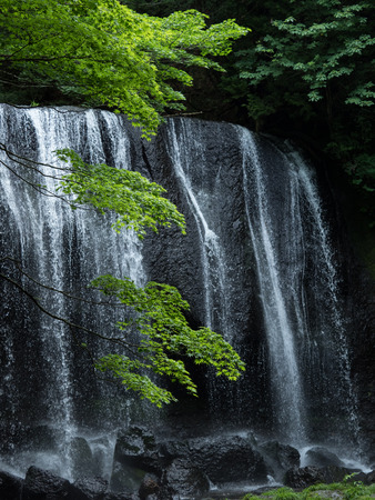 Beautiful waterfall Tatsuzawa Fall in Fukushima, Japan