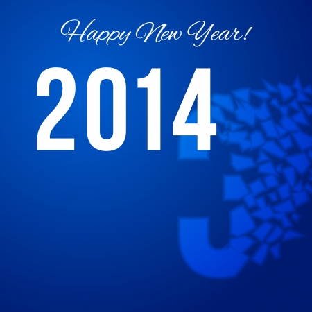 to scatter: Happy New Year poster with scatter year number