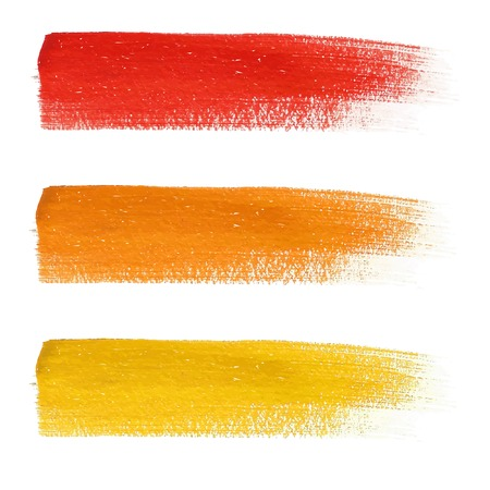 brush stroke: Bright colorful stains set