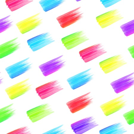 Seamless rainbow colorful stains pattern Vector