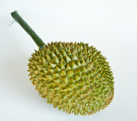 Durian, the king of fruits of South East Asia on white background Stock Photo - 13125899