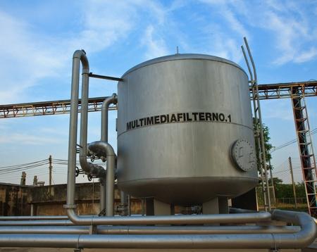 filtraci�n: Una planta de tratamiento de aguas residuales