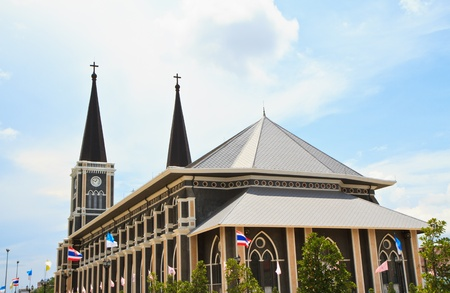 generality: Traditional Trad old church Generality in thailand, any kind of art decorated in Buddhist church, temple pavilion, temple hall, monk Stock Photo