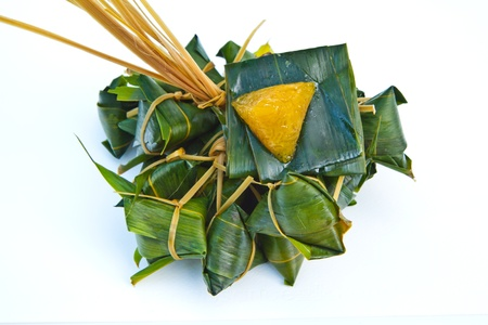 Thai sweetmeat made of flour on  white background Stock Photo - 13532676