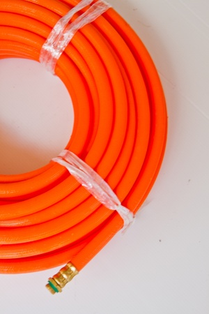 rubber tube  join hypressure on white background  Stock Photo