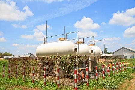 Old Big White gaz  Storage Tanks photo