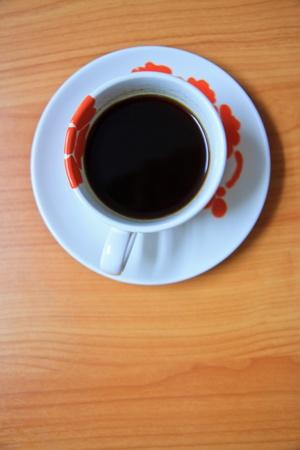 Coffee cup  on table photo
