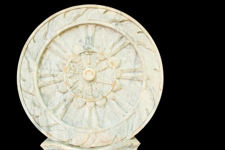 Wheel of dharma - isolated photo