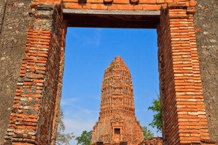 pagoda in thai temple at Ayuttaya Stock Photo - 13762234