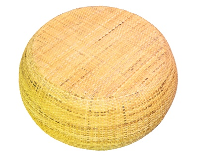 rattan chair on isolated white background photo