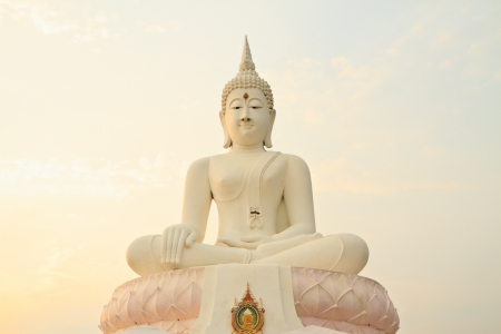 Buddha image white Stock Photo