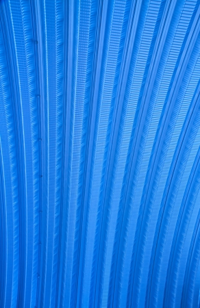 Corrugated metal sheet roof photo