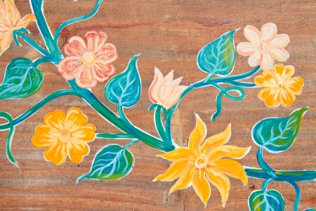 The hand painted color of a wild flower  Stock Photo - 14359722