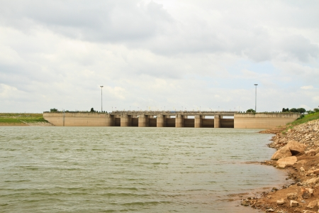 the water gates at dam landscape photo