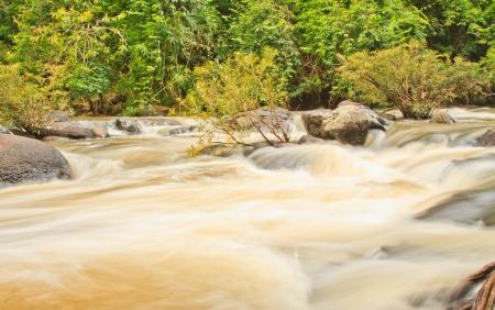 Beautiful Unesco Haew Suwat Waterfall in Khao Yai, Thailand photo