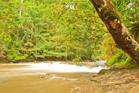 Beautiful Haew Suwat Waterfall in Khao Yai, this canal