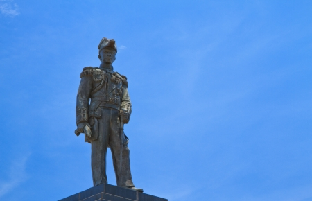 prince of peace: There is also a black statue of Jumborn Prince, the father of the Royal Thai army,at  PATTAYA Hill,Thailand