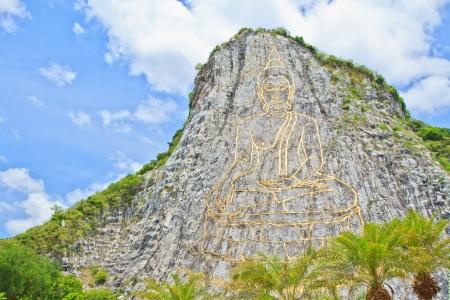 chan: Khao Chee Chan Temple at Pattaya Stock Photo