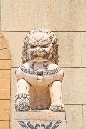 Lion Statue in the  temple Stock Photo - 16062967