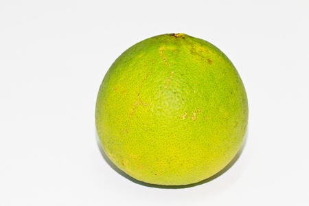 A pomelo on white background photo