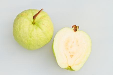 Guava, green fresh fruit isolated on white background Stock Photo - 16542263