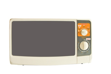 microwave isolated on white background photo