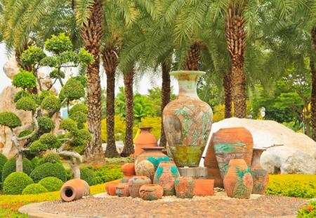 The vase in a garden Stock Photo - 16848639
