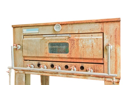 Old gas stove isolated on white background Stock Photo - 17021304