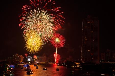 fireworks at bangkok it happy new year thailand stock photo 17077240
