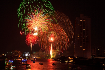 Fireworks at Bangkok  It happy new year, Thailand photo