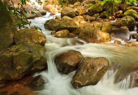 namtok: Namtok Phlio, Phlio waterfall national park in Chanthaburi Province Thailand  This is canal it