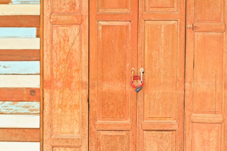 old white wood wall and door Stock Photo - 17503013