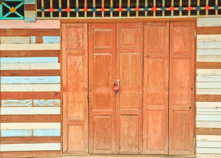 old white wood wall and door Stock Photo - 17503006