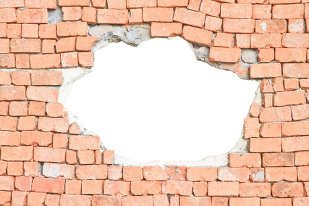 brick wall and hole, You can use background Stock Photo - 17619221