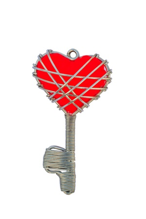 key chain heart isolated on a white background Stock Photo - 17794880