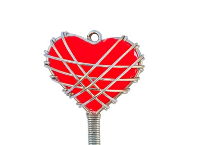 bibelot: key chain heart isolated on a white background Stock Photo