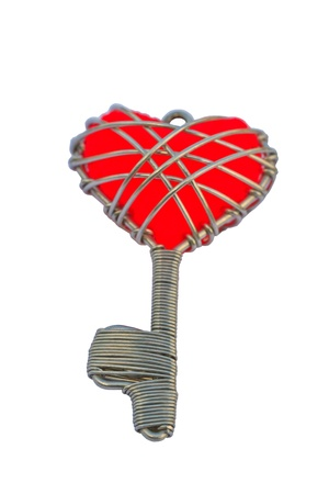 key chain heart isolated on a white background Stock Photo - 17794882