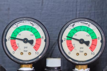 pressure gauge,  On the black background