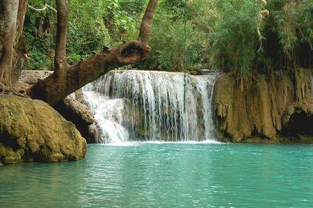 lao: Cascade de sri kawang TAD � Laungphrabarng Lao Banque d'images