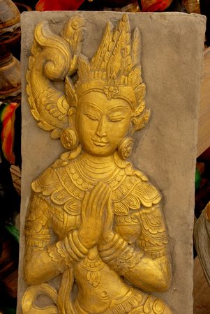 molded: molded figure  the art of Thais people Stock Photo