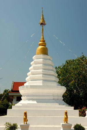 moulded: figura moldeada en templo del norte de Tailandia  Foto de archivo