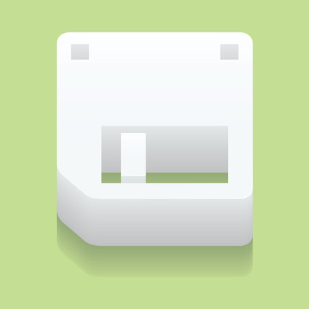 relic: Diskette of 3.5 inches. A vector illustration. Illustration
