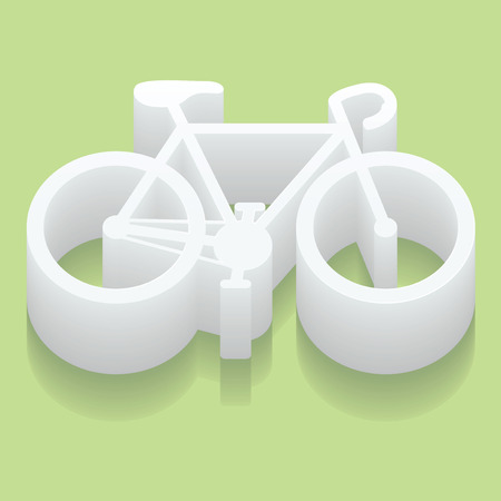cycling road. Flat web icon or sign