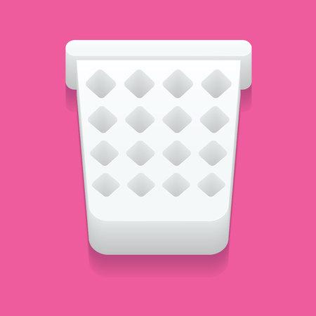 cesto basura: Malla icono de la papelera de forma sencilla Vectores