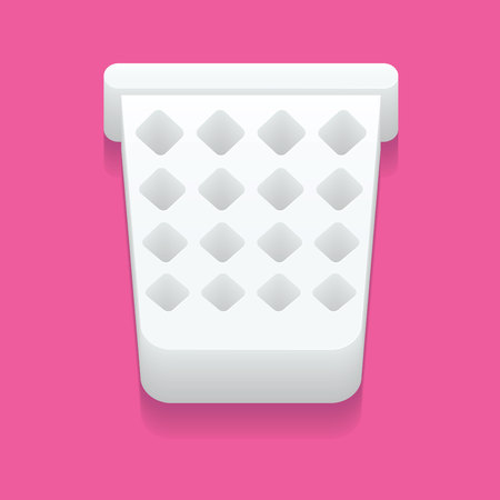cesto basura: Mesh trash basket icon in simple style