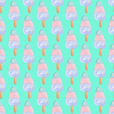 ユニコーンのコレクションです。水彩のシームレスなパターン。パーティーの装飾
