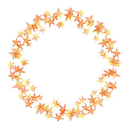 花輪、フレーム。水彩の星です。パーティーの装飾 写真素材